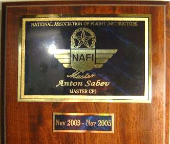 Designated Master CFI by the National Association of Flight Instructors